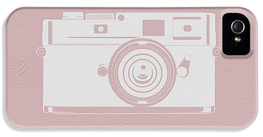 IPhone 5 Case featuring the digital art Vintage Camera Poster by Naxart Studio