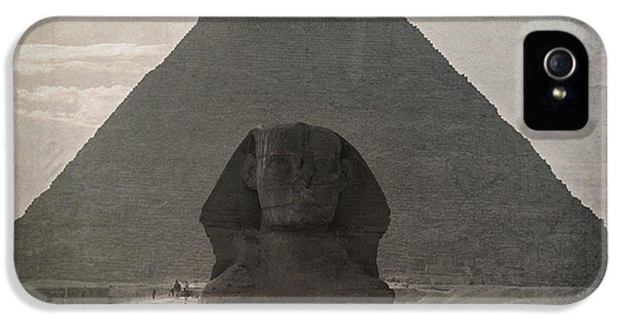 Africa IPhone 5 Case featuring the photograph Vintage Sphinx by Jane Rix