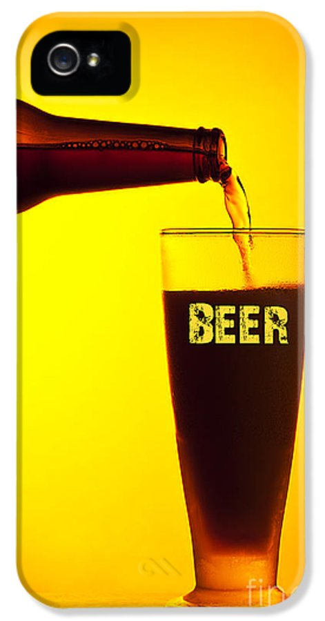 Still Life IPhone 5 Case featuring the photograph Waiter Pouring Dark Beer by Anna Om