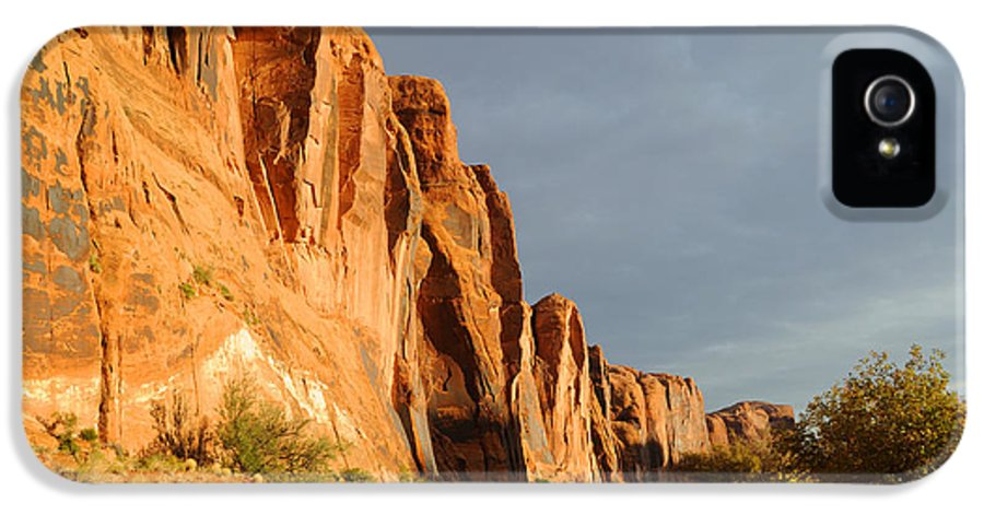 Moab IPhone 5 Case featuring the photograph Wall Street Cliff Near Moab by Gary Whitton