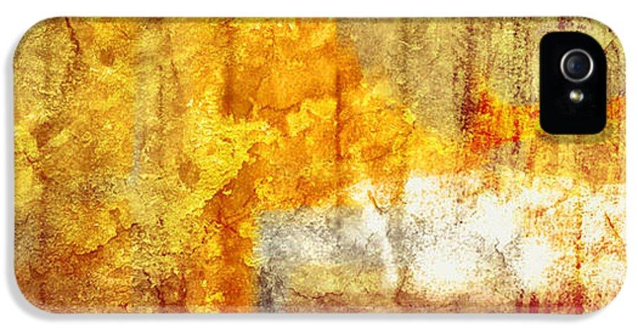 Brett IPhone 5 Case featuring the digital art Warm Abstract by Brett Pfister