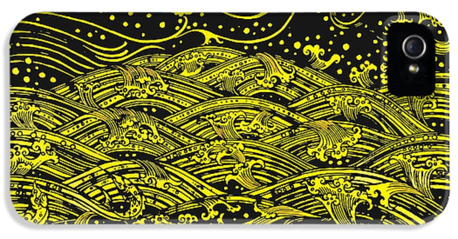 Ancient IPhone 5 Case featuring the painting Water Pattern by Setsiri Silapasuwanchai
