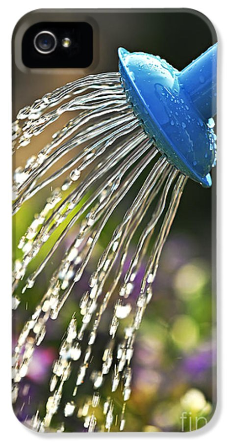 Water IPhone 5 Case featuring the photograph Watering Flowers by Elena Elisseeva