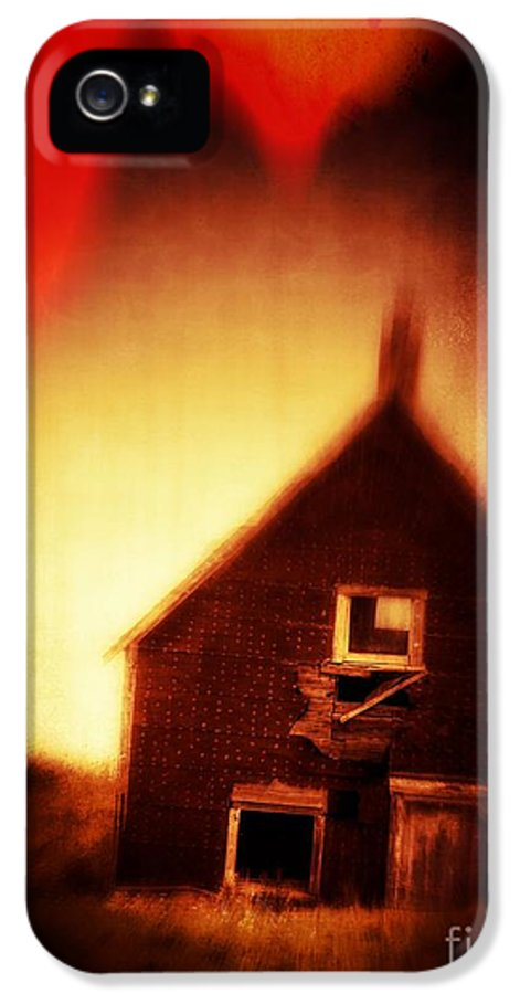 Scary IPhone 5 Case featuring the photograph Welcome To Hell House by Edward Fielding