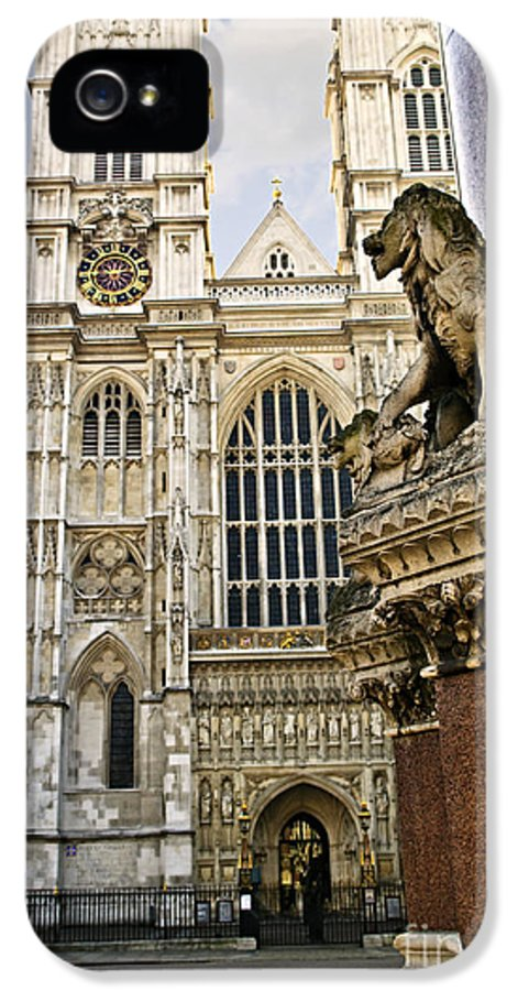 Westminster IPhone 5 / 5s Case featuring the photograph Westminster Abbey by Elena Elisseeva