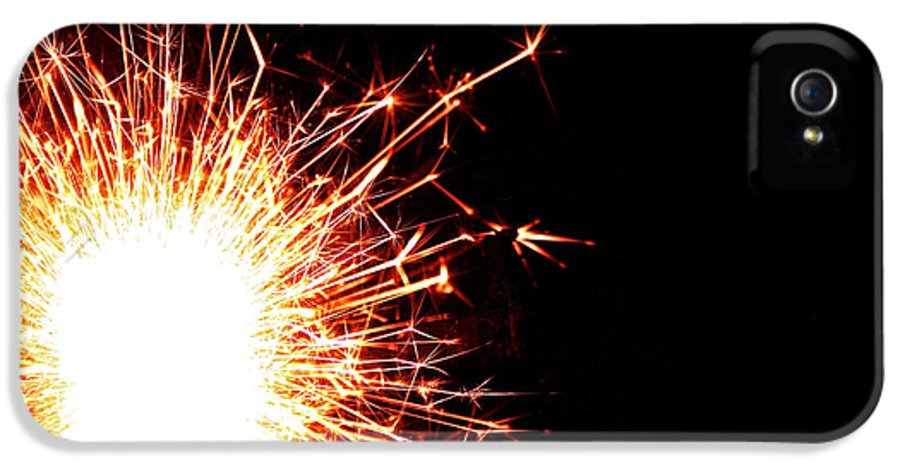 Fire IPhone 5 Case featuring the photograph White Center by Susan Herber