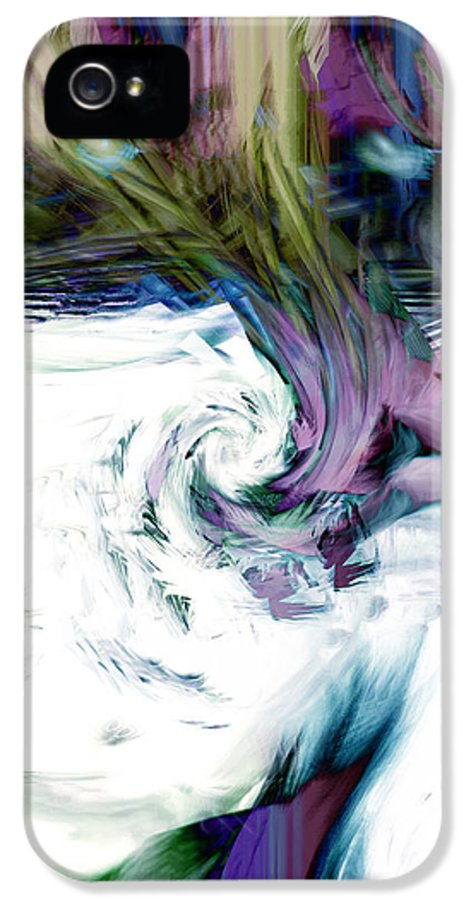 Abstract IPhone 5 Case featuring the digital art Why by Linda Sannuti