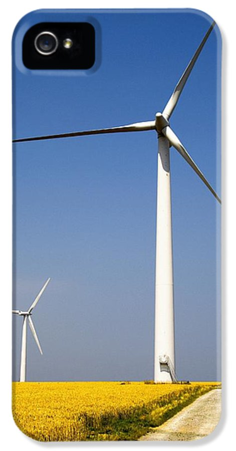 Built Structure IPhone 5 Case featuring the photograph Wind Turbine, Humberside, England by John Short