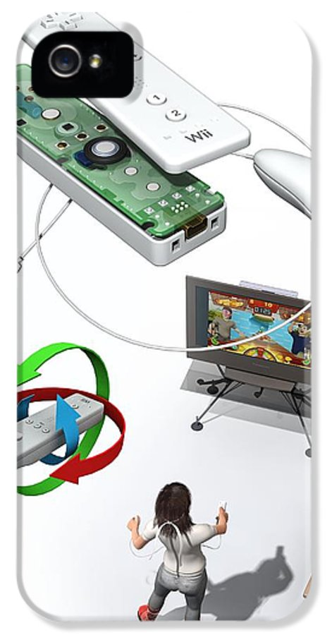 Wii Remote IPhone 5 Case featuring the photograph Wireless Home Video Game System by Jose Antonio PeÑas