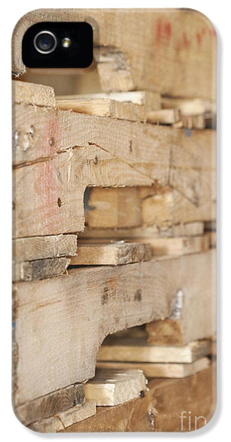 Blue Collar IPhone 5 Case featuring the photograph Wood Pallets by Shannon Fagan