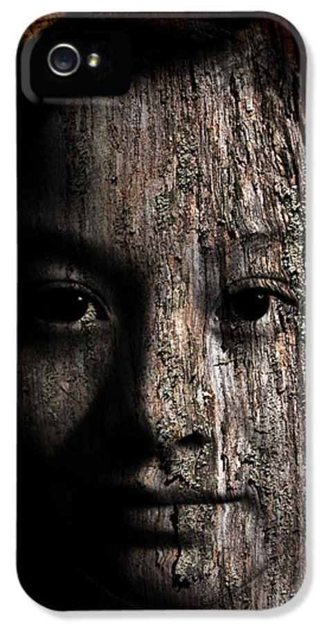 Girl IPhone 5 Case featuring the painting Woodland Spirit by Christopher Gaston