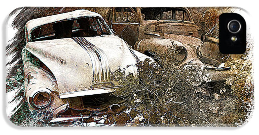 Art IPhone 5 Case featuring the pyrography Wreck 3 by Mauro Celotti