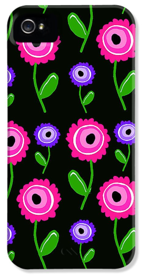 Young Florals (digital) By Louisa Knight (contemporary Artist) IPhone 5 Case featuring the digital art Young Florals by Louisa Knight