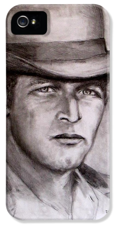 Butch Cassidy IPhone 5 Case featuring the drawing Butch Cassidy by Jack Skinner