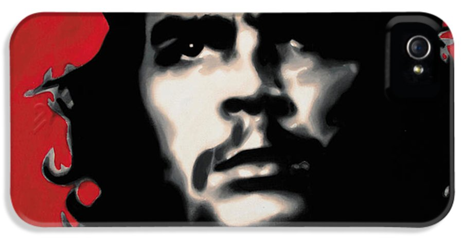 Ludzska IPhone 5 Case featuring the painting - Che - by Luis Ludzska