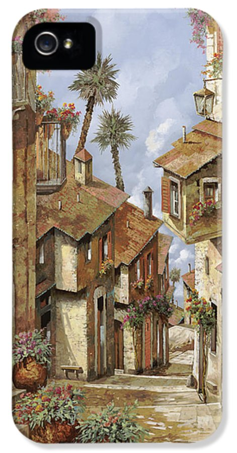 Landscape IPhone 5 Case featuring the painting Le Palme Sul Tetto by Guido Borelli