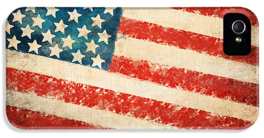 4th IPhone 5 Case featuring the painting America Flag by Setsiri Silapasuwanchai
