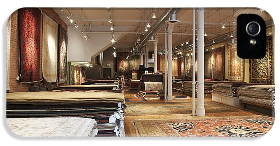 Architecture IPhone 5 Case featuring the photograph Area Rugs In A Store by Jetta Productions, Inc