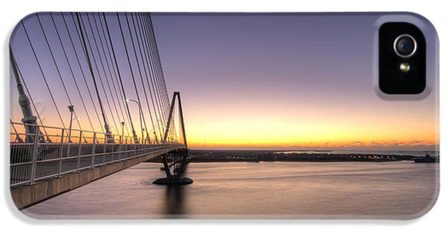 Arthur Ravenel Jr Bridge IPhone 5 Case featuring the photograph Arthur Ravenel Jr Bridge Sunrise by Dustin K Ryan