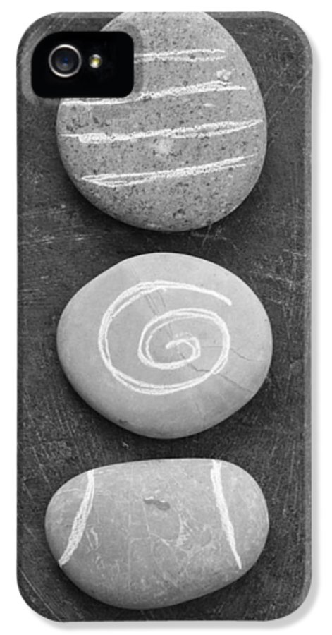 Stones IPhone 5 Case featuring the mixed media Balance by Linda Woods