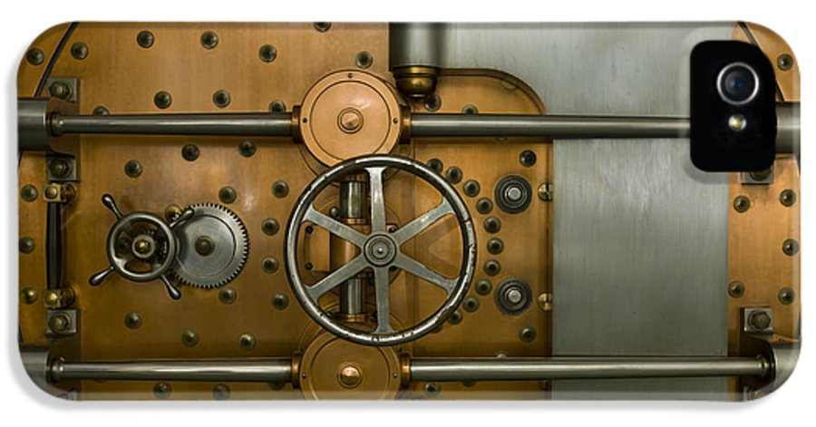 Architectural IPhone 5 Case featuring the photograph Bank Vault Door Exterior by Adam Crowley