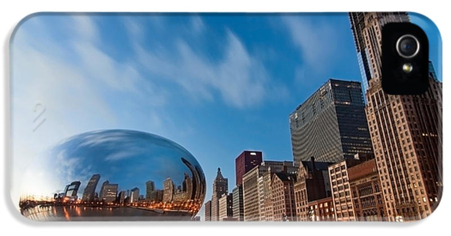 Chicago Skyline IPhone 5 Case featuring the photograph Chicago Skyline And Bean At Sunrise by Sven Brogren