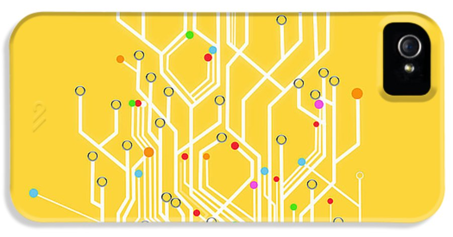 Abstract IPhone 5 Case featuring the photograph Circuit Board Graphic by Setsiri Silapasuwanchai