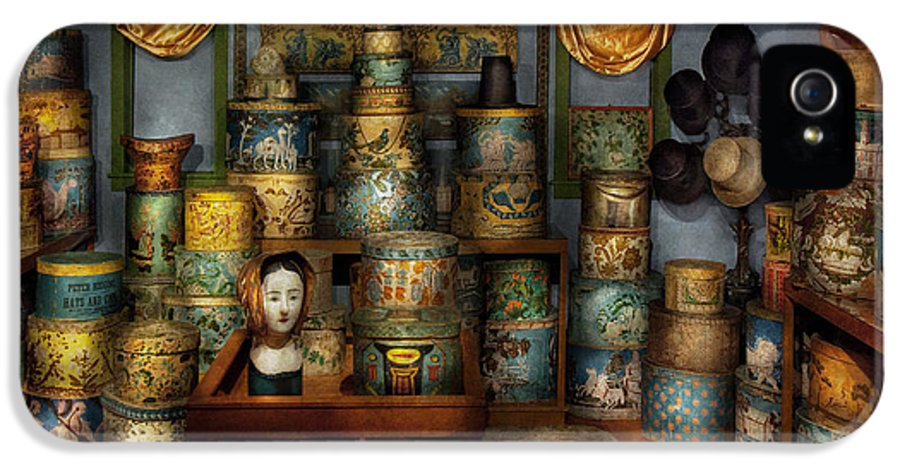Hdr IPhone 5 Case featuring the photograph Collector - Hats - The Hat Room by Mike Savad