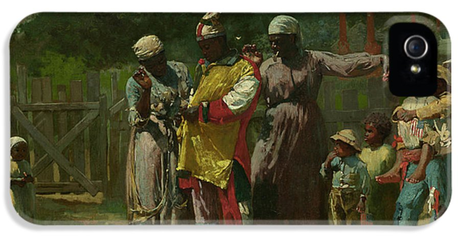Dressing For The Carnival IPhone 5 Case featuring the painting Dressing For The Carnival by Winslow Homer
