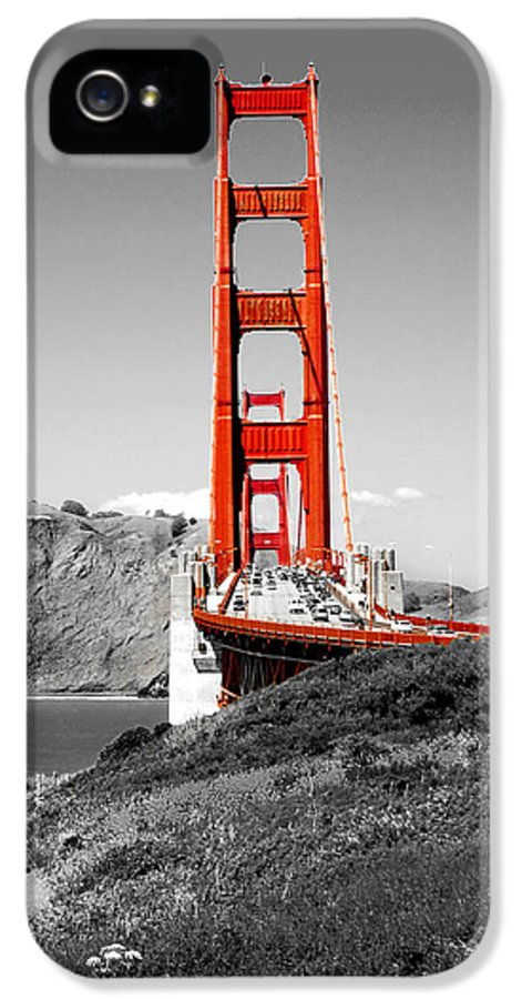 City IPhone 5 / 5s Case featuring the photograph Golden Gate by Greg Fortier