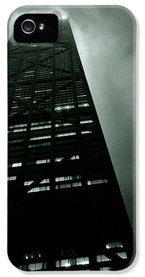 Geometric IPhone 5 Case featuring the photograph John Hancock Building - Chicago Illinois by Michelle Calkins