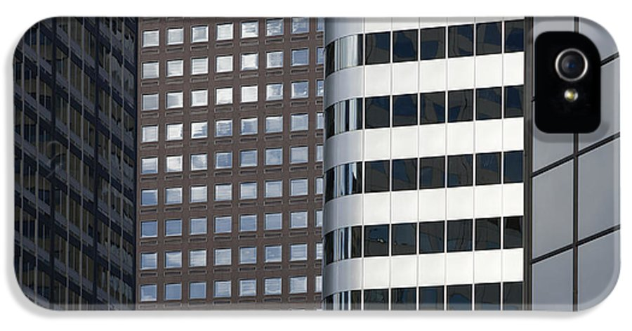 Architecture IPhone 5 Case featuring the photograph Modern High Rise Office Buildings by Roberto Westbrook