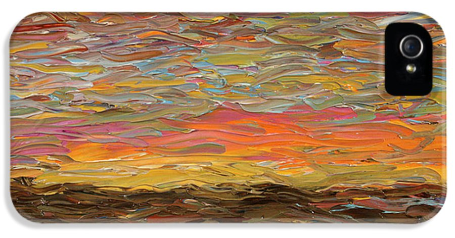 Sunset IPhone 5 Case featuring the painting Sunset by James W Johnson