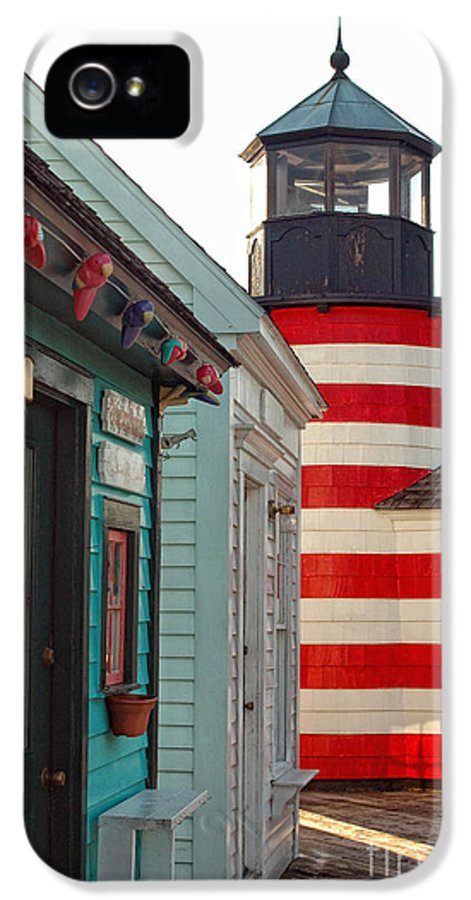 Lighthouse IPhone 5 Case featuring the photograph The Cove by Joann Vitali