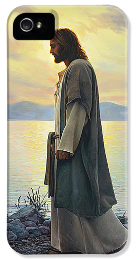 Jesus IPhone 5 Case featuring the painting Walk With Me by Greg Olsen