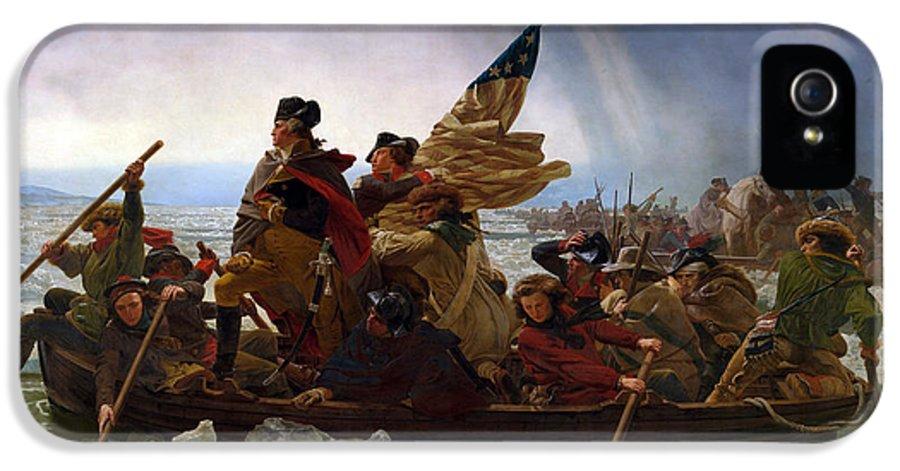 Washington Crossing The Delaware IPhone 5 Case featuring the digital art Washington Crossing The Delaware by Emanuel Leutze
