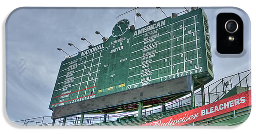 Chicago Cubs IPhone 5 Case featuring the photograph Wrigley Scoreboard by David Bearden