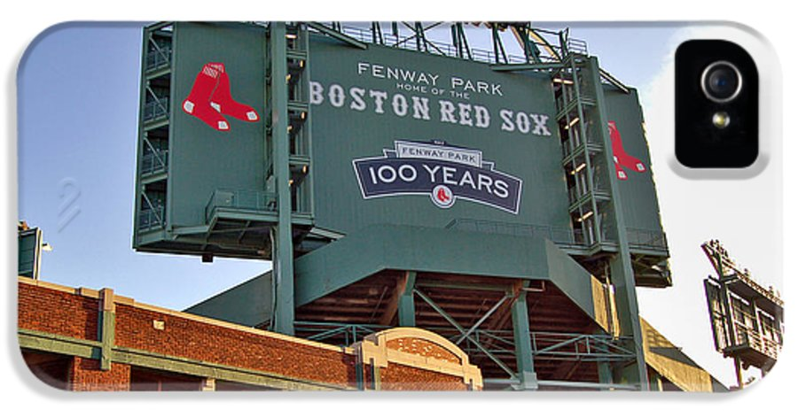 Fenway Park IPhone 5 Case featuring the photograph 100 Years At Fenway by Joann Vitali
