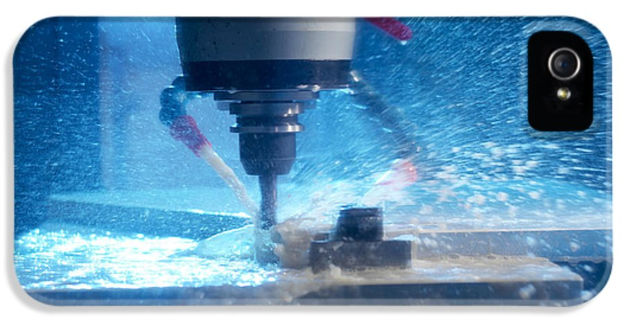 Milling Machine IPhone 5 Case featuring the photograph Metalwork by Tek Image