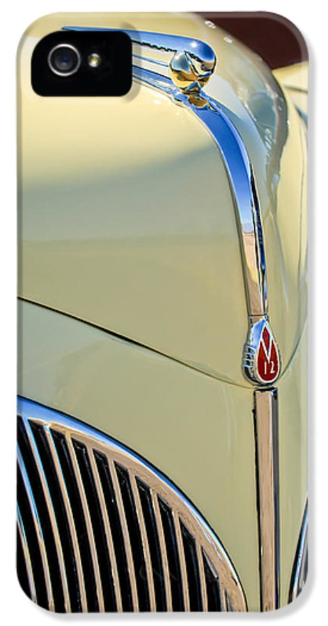 1941 Lincoln Continental Cabriolet V12 IPhone 5 Case featuring the photograph 1941 Lincoln Continental Cabriolet V12 Grille by Jill Reger