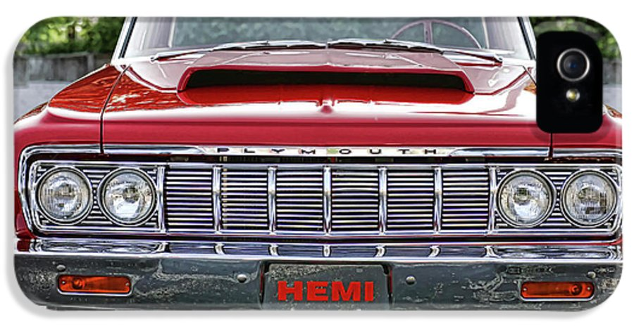 1964 IPhone 5 Case featuring the photograph 1964 Plymouth Savoy Hemi by Gordon Dean II