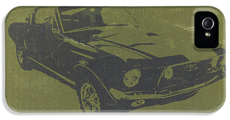 1968 Ford Mustang IPhone 5 Case featuring the photograph 1968 Ford Mustang by Naxart Studio