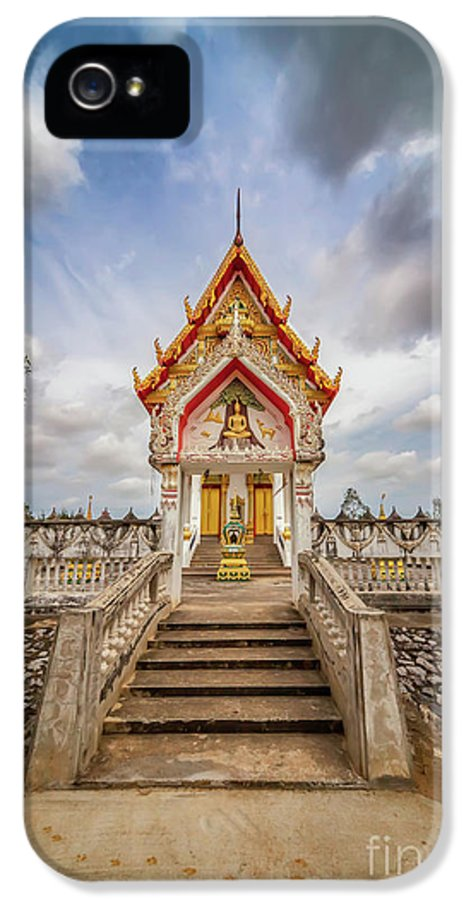 Temple IPhone 5 Case featuring the photograph Buddhist Temple by Adrian Evans