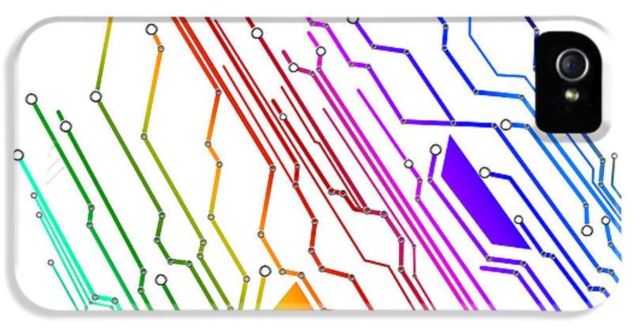 Abstract IPhone 5 Case featuring the photograph Circuit Board Technology by Setsiri Silapasuwanchai