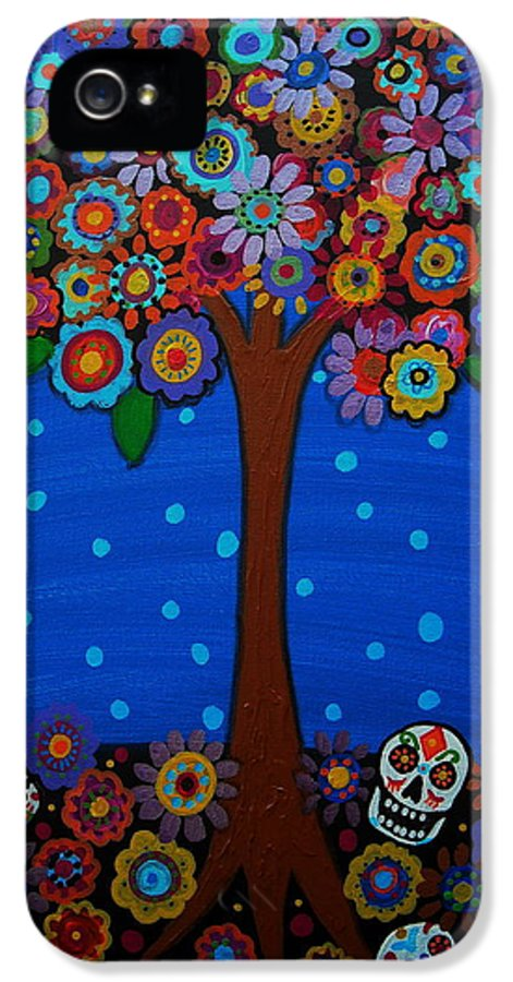 Day Of The Dead IPhone 5 Case featuring the painting Day Of The Dead by Pristine Cartera Turkus