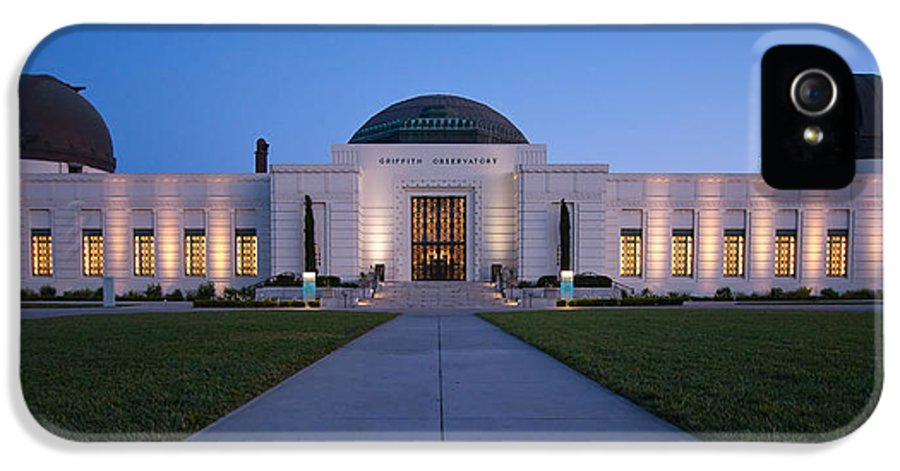3scape Photos IPhone 5 Case featuring the photograph Griffith Observatory by Adam Romanowicz