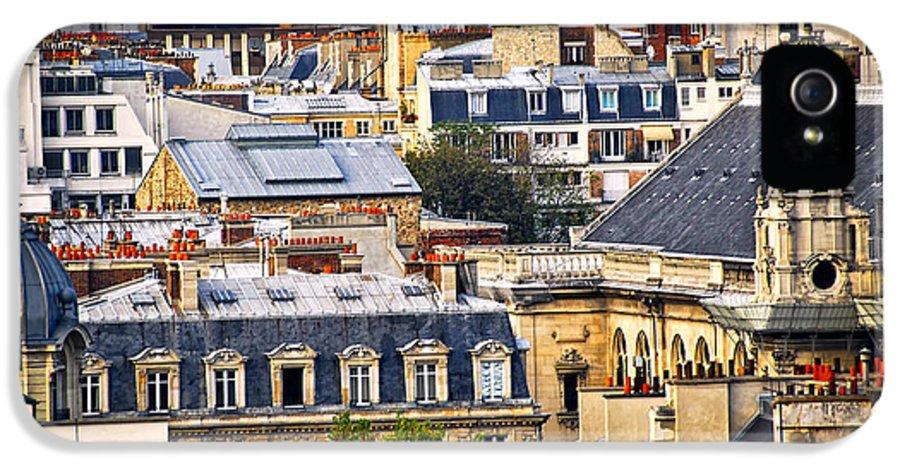 Paris IPhone 5 Case featuring the photograph Paris Rooftops by Elena Elisseeva
