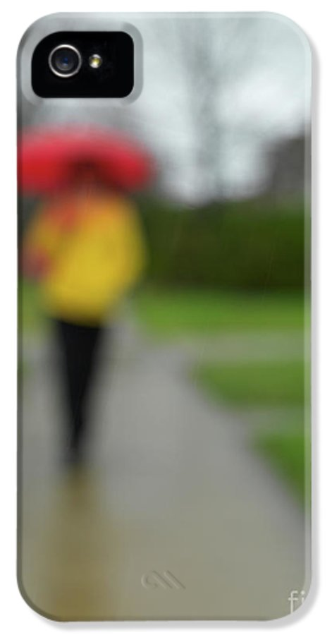 Rainy Day IPhone 5 Case featuring the photograph People In The Rain by Oleksiy Maksymenko