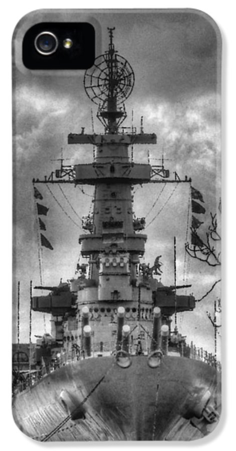 Wilmington North Carolina IPhone 5 / 5s Case featuring the photograph U.s.s. North Carolina by JC Findley
