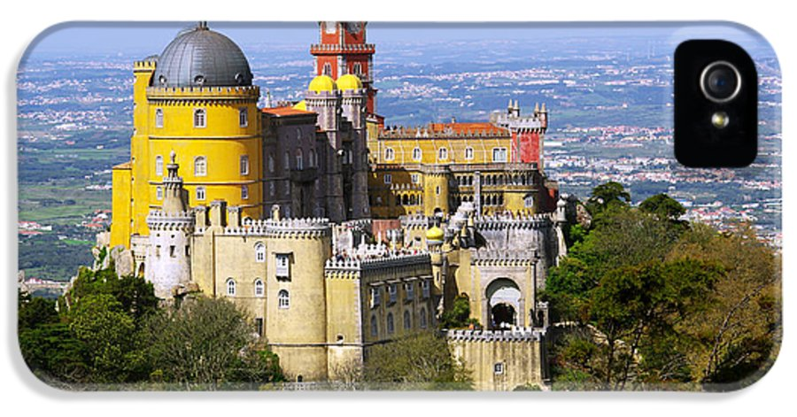 Arabian IPhone 5 Case featuring the photograph Pena Palace by Carlos Caetano
